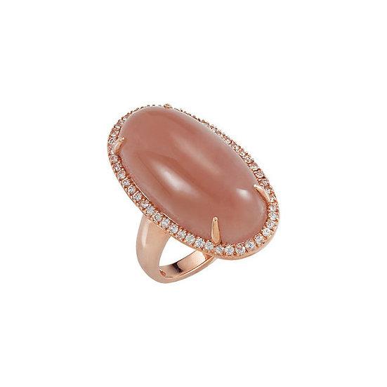 Chalcedony White Sapphire Ring