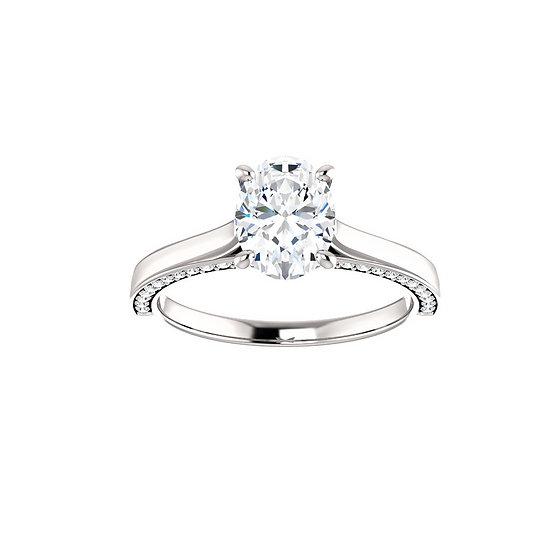 Oval Diamond Engagement Ring Setting