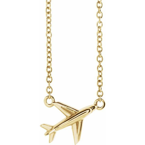 Airplane Gold Necklace