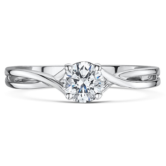 Twist Solitaire Ring Setting