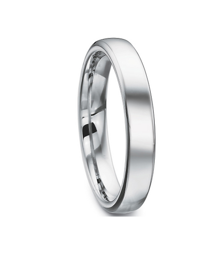 4mm white gold band