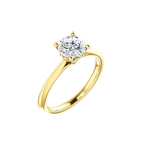 Solitaire Heart Gallery Engagement Ring Setting