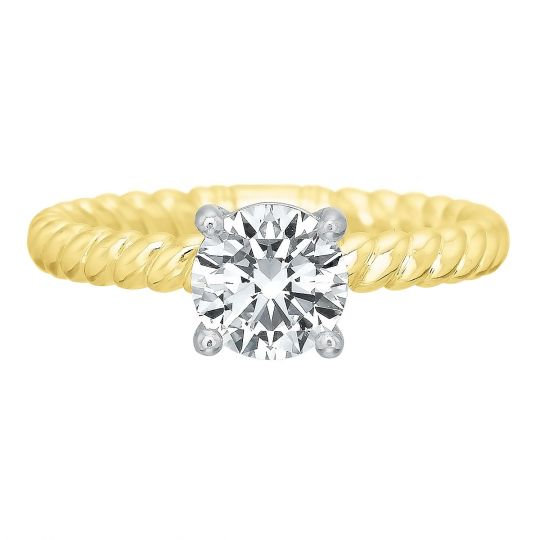 Ballerina Royal Yellow Engagement Ring Setting