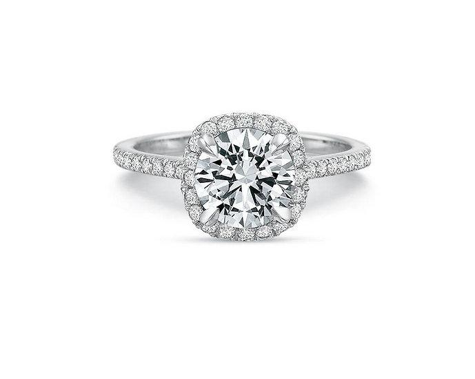 Olivia Cushion Halo Engagement Ring