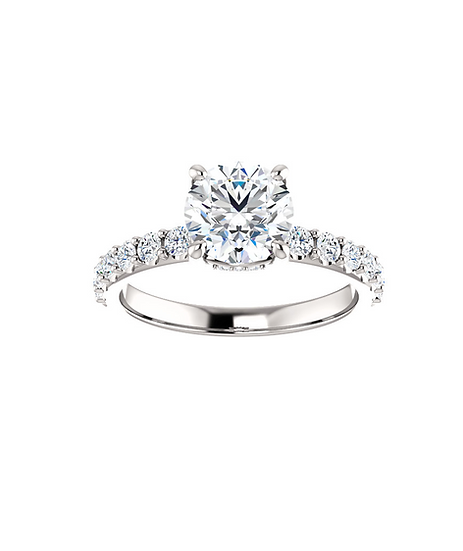 Hidden Halo Diamond Engagement Ring Setting
