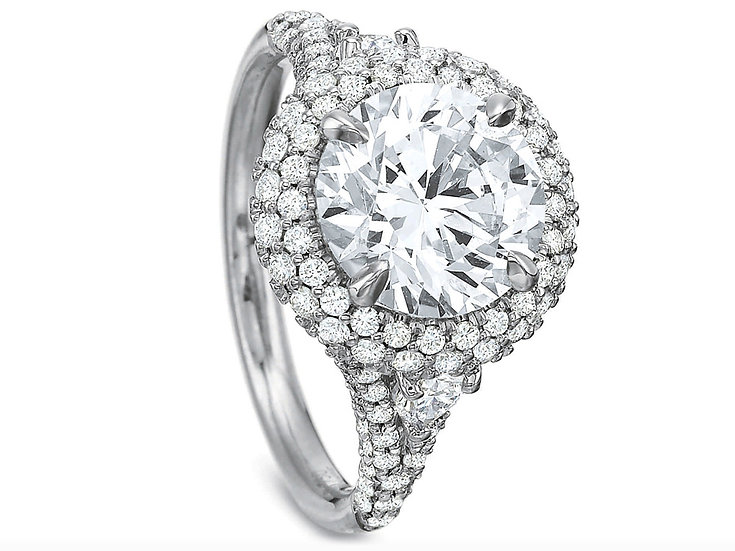 Asscher Diamond Solitaire Engagement Ring Setting