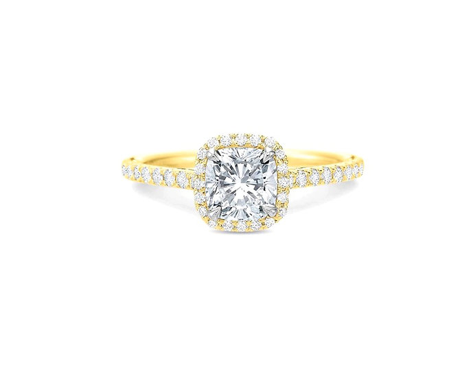 Cushion Halo Engagement Ring Setting