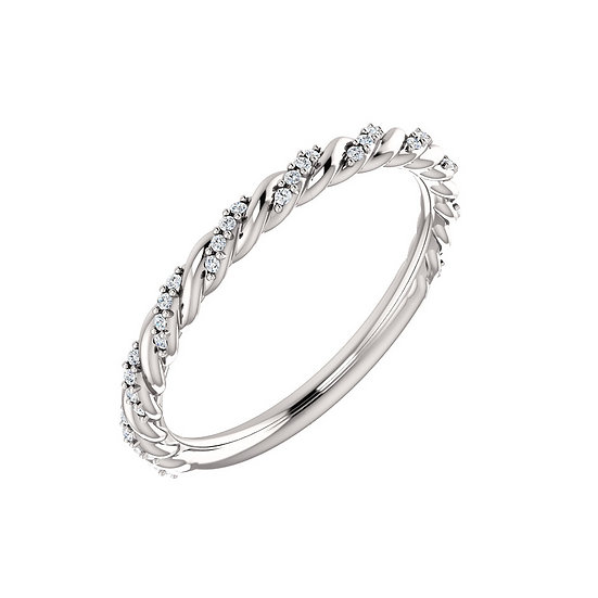 Diamond Pave Twist Anniversary Band