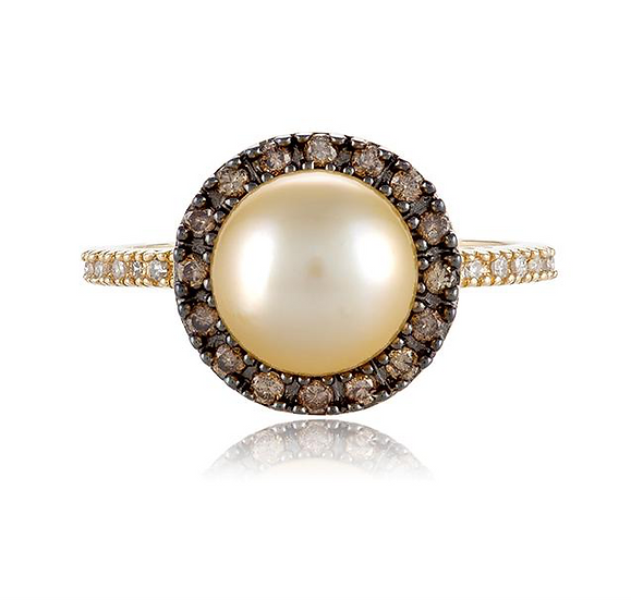 Pearl Champagne Diamond Ring