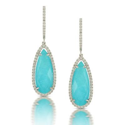 Turquoise Diamond Earrings