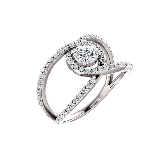 Open Band Infinity Engagement Ring Setting