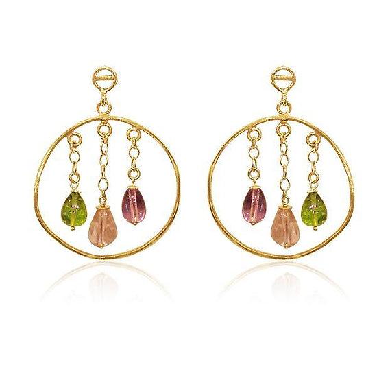 Briolette Hoop Earrings