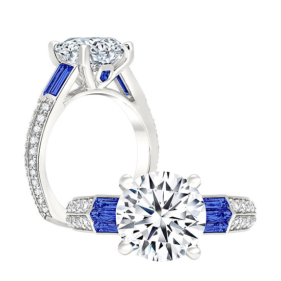 Sapphire Diamond Engagement Ring Setting