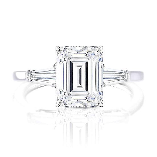Desiree Emerald Diamond Engagement Ring