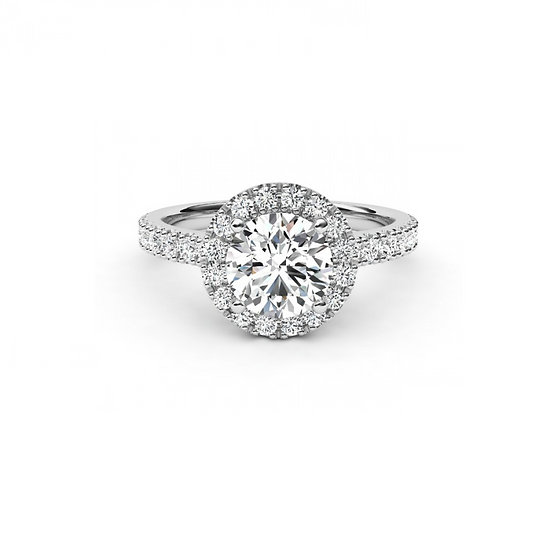 Halo Diamond Engagement Ring Setting