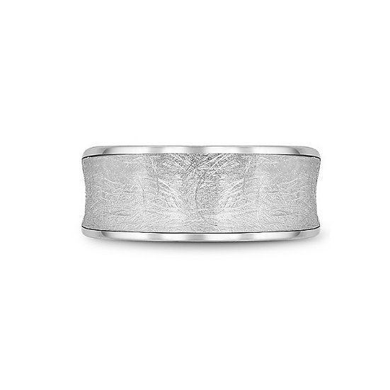 Men's 9.5mm white gold band