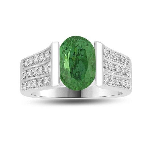 Gemstone Diamond Ring