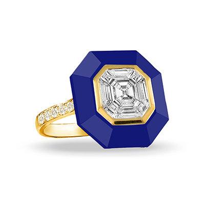 Lapis Diamond Ring