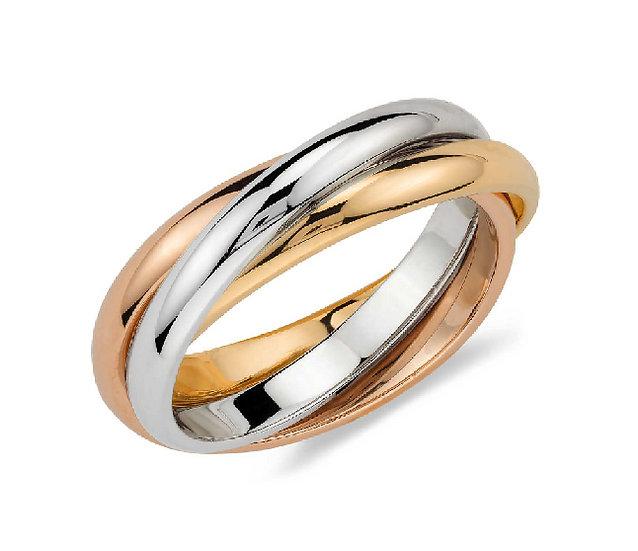 Tri Gold Ring