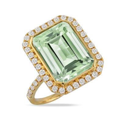 Mojito Green Amethyst Ring