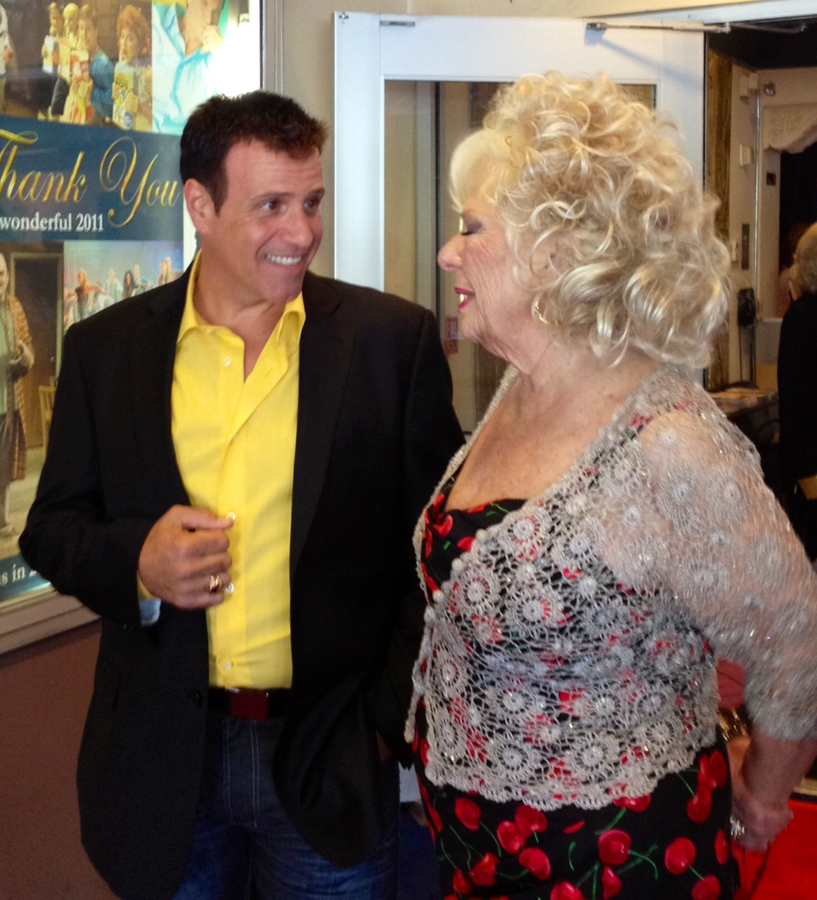 Red carpet with friend Renee Taylor