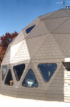 aluminum siding for geodesic domes