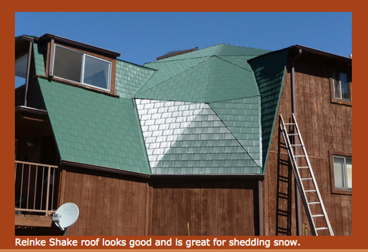 aluminum shingles for geodesic dome