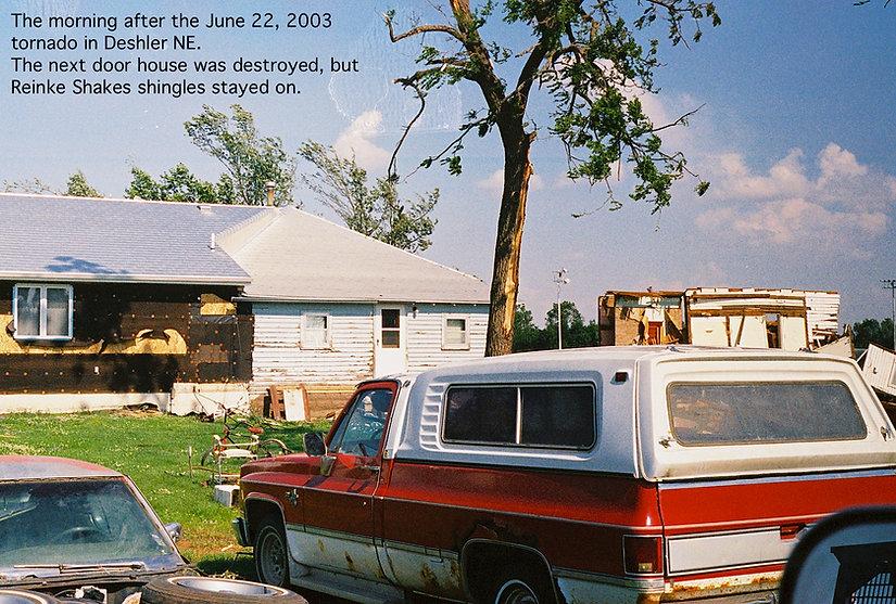 tornado resistant aluminum shingles