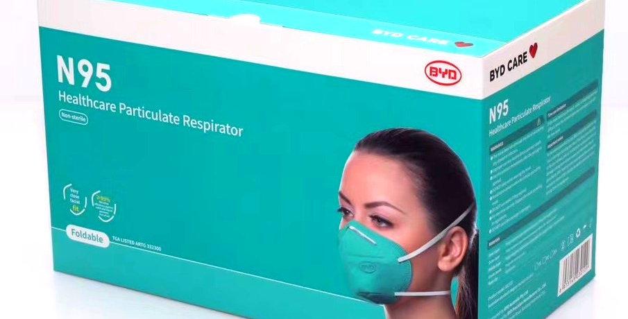 20 Pack BYD N95 NIOSH Respirator