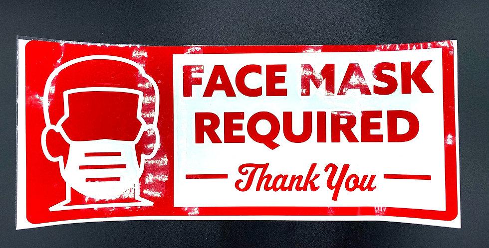 Masks Required Sticker