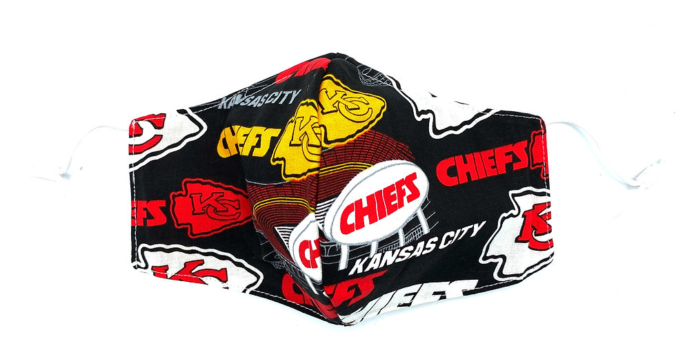 Kansas City Chiefs Mask with 2 Filters