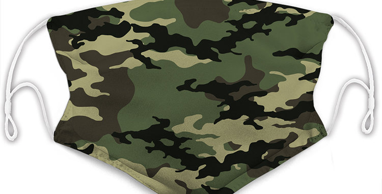 Camouflage Reusable Cloth Mask with 2 Filters