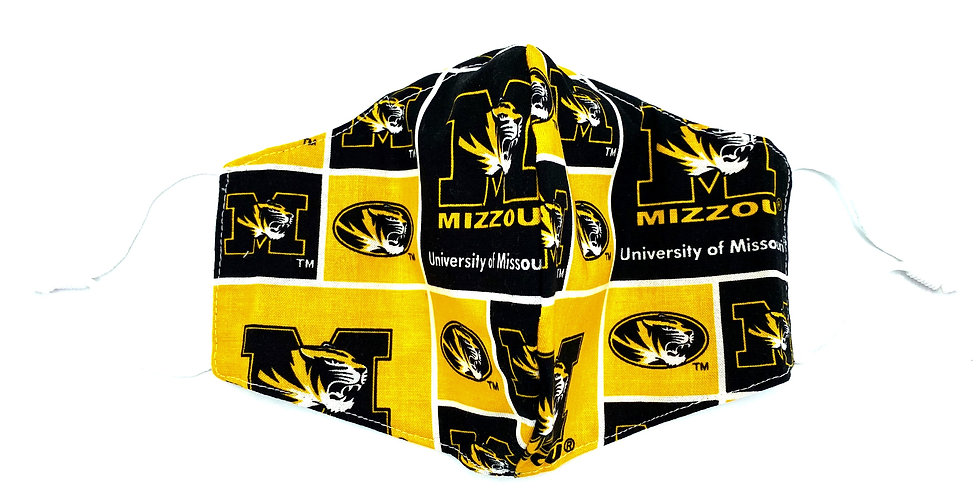 Mizzou Reusable Cloth Mask with 2 Filters