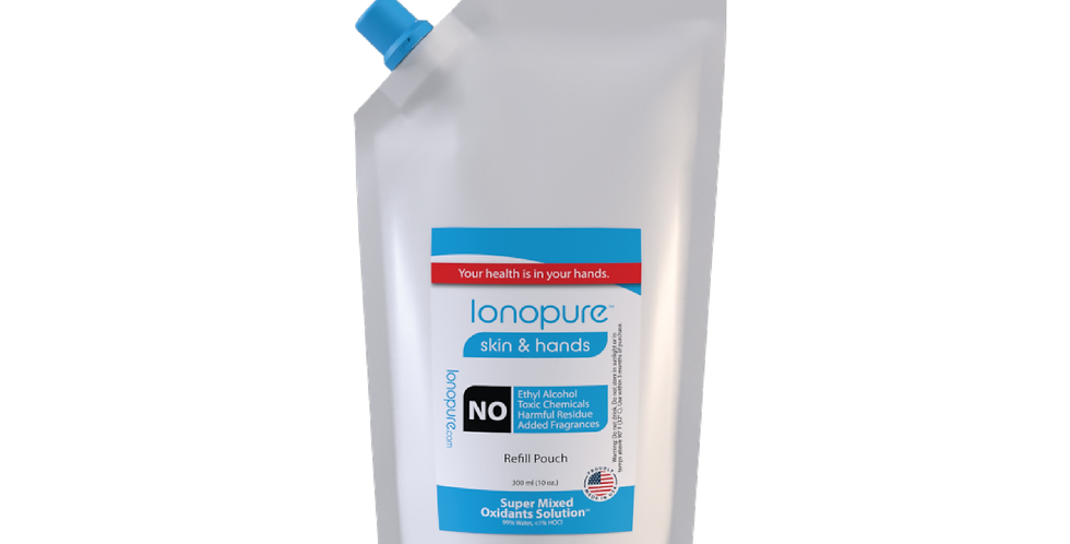 Ionopure Skin & Hands - 300 ml(10 oz.) Pouch