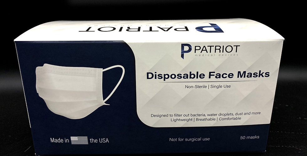 50 Pack - Made in USA 3 Ply Level 3 Masks