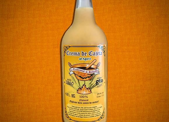 Crema de cajeta al agave 1000 ml.