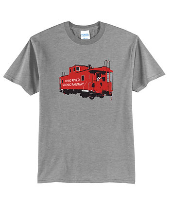 ORSR Caboose – T-shirt (Gray & Blue)