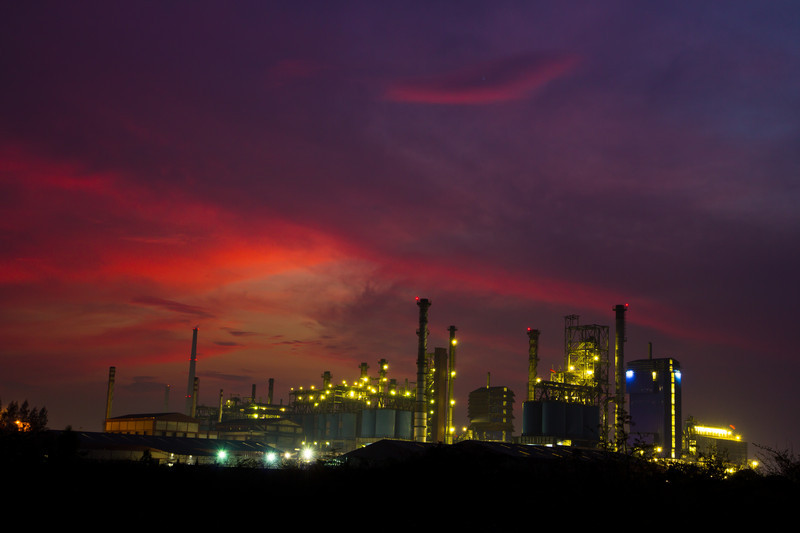 industry site at night