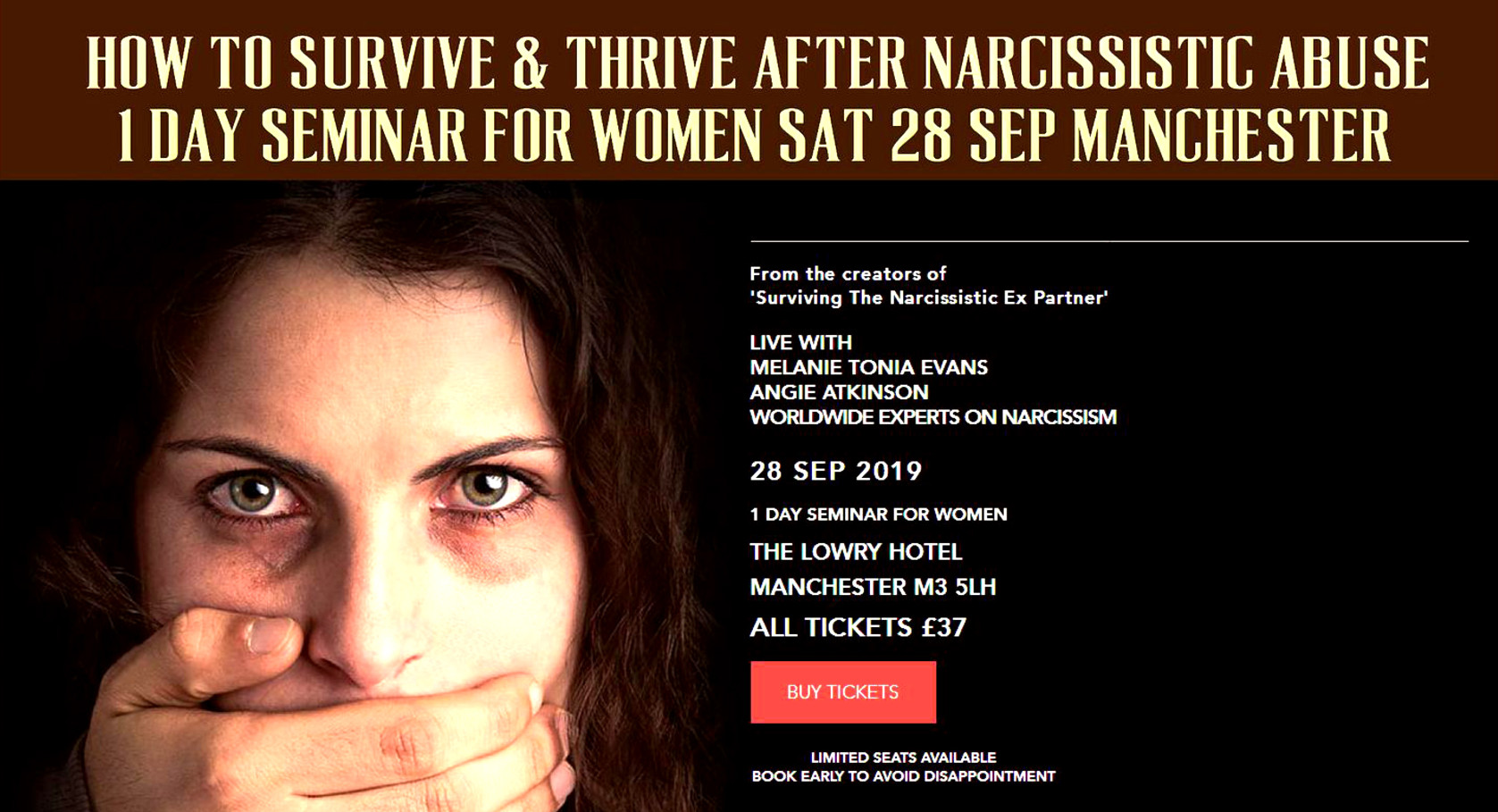 Overcoming Narcissism | Buy Tickets