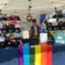 At Toledo Pride!!! It's super hot, but v