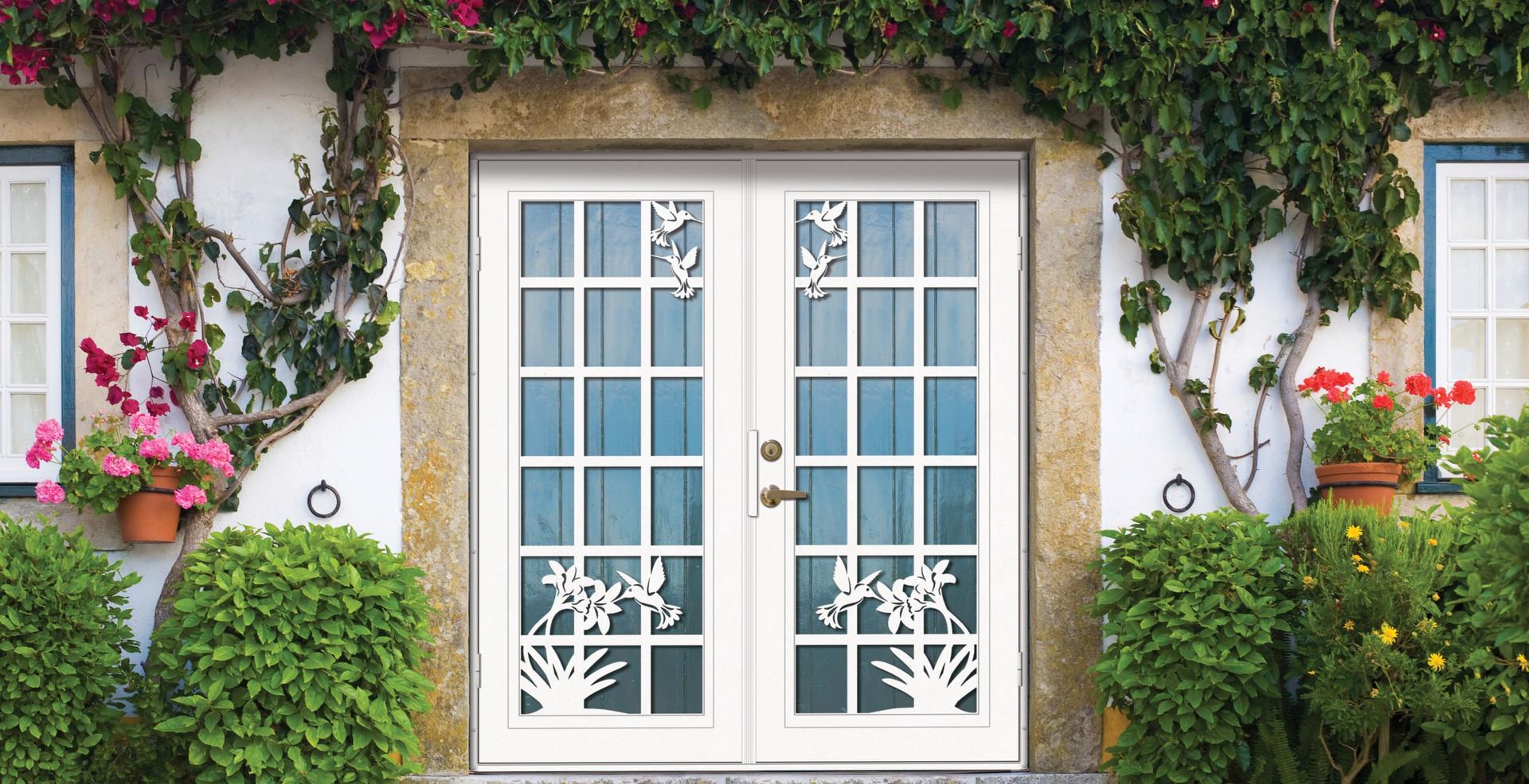 French Hummingbird Double Screen Doors