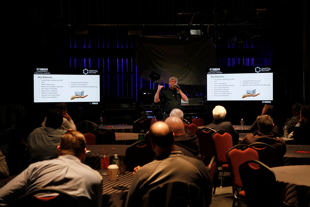 Yamaha Commercial Installations speaks at the MFi Pro Expo