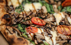 Spinach and Mushroom, with Balsamic reduction