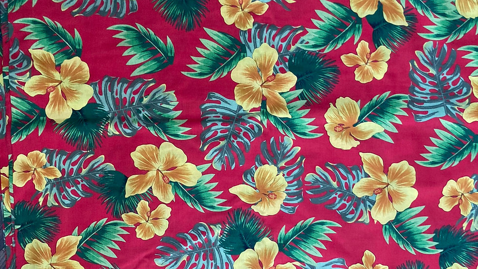 Fabric : Pure cotton floral printed fabric