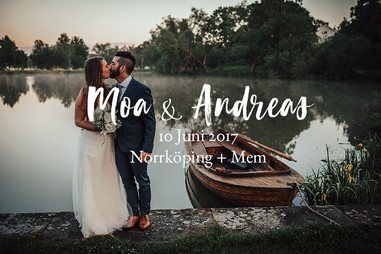 Bröllopsfotograf Norrköping | Moa & Andreas