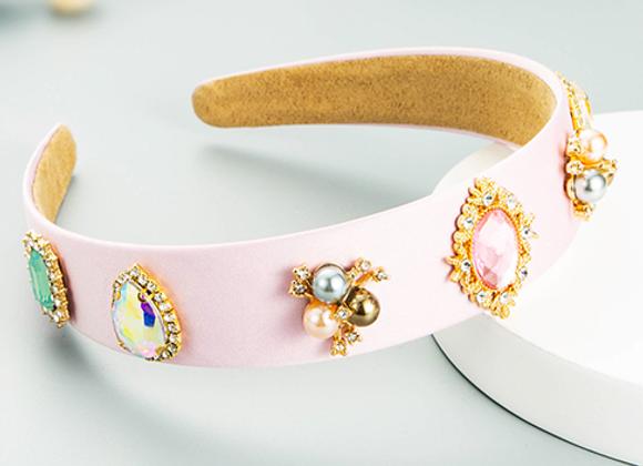Pink Embellished Hairband