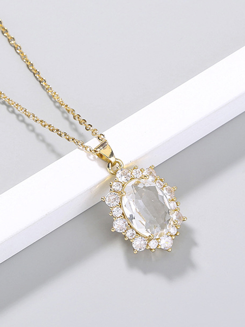 White Diamond Gold Chain