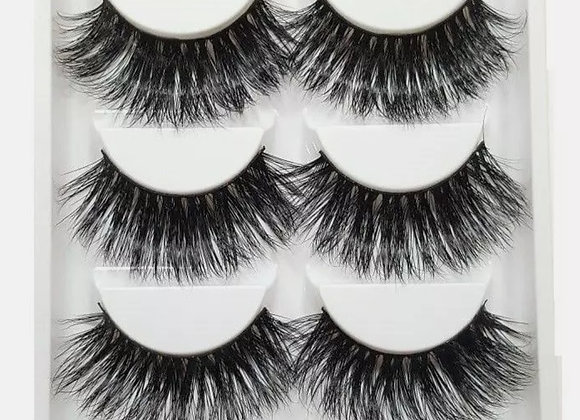 Luxurious 5 pair (extra long) lashes