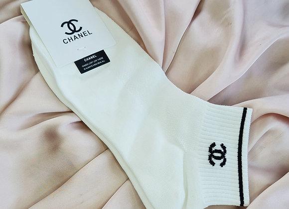 White CC Inspired Socks