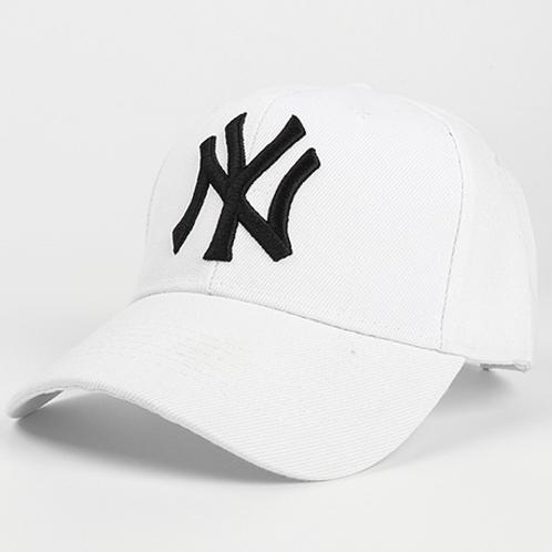 All White Baseball Hat